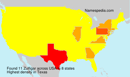 Surname Zulfigar in USA