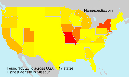 Surname Zulic in USA