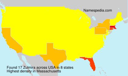 Surname Zulmira in USA