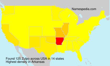 Familiennamen Zulpo - USA