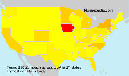 Surname Zumbach in USA