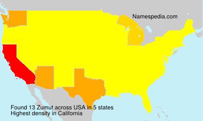 Surname Zumut in USA
