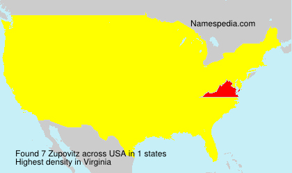 Surname Zupovitz in USA