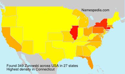 Surname Zurowski in USA