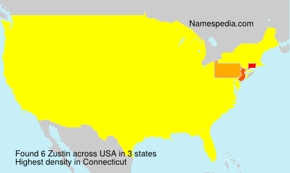 Surname Zustin in USA