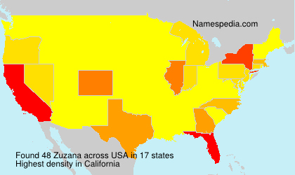 Surname Zuzana in USA