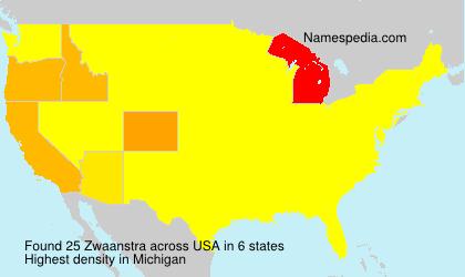 Surname Zwaanstra in USA