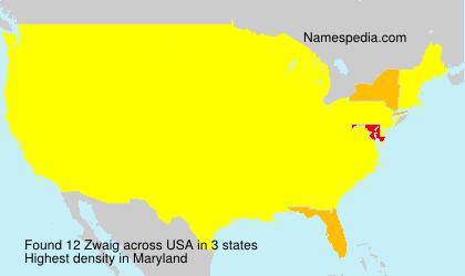 Surname Zwaig in USA