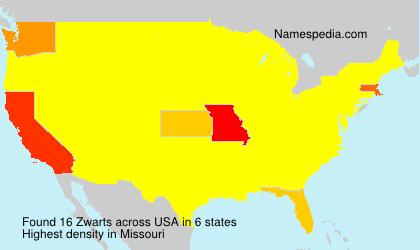 Surname Zwarts in USA