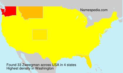 Surname Zweegman in USA