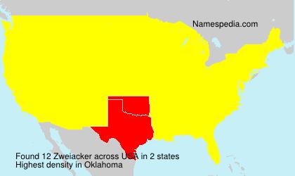 Surname Zweiacker in USA