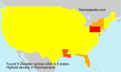 Surname Zweidler in USA