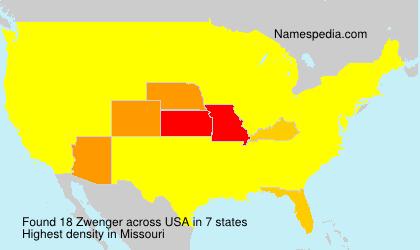 Surname Zwenger in USA