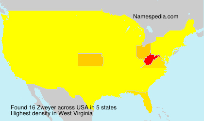 Surname Zweyer in USA