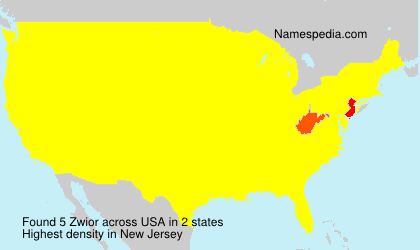 Surname Zwior in USA