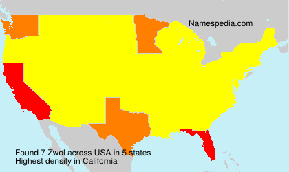Surname Zwol in USA