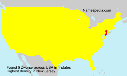 Surname Zwonar in USA
