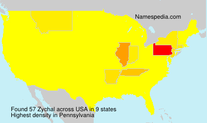 Surname Zychal in USA