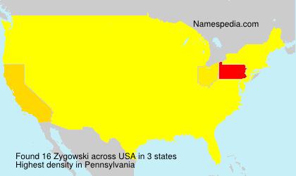 Surname Zygowski in USA