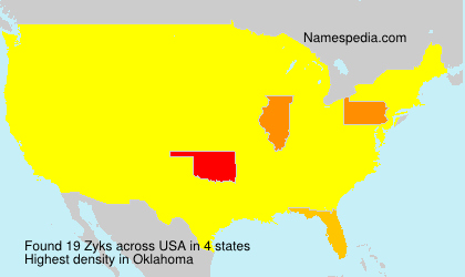 Surname Zyks in USA