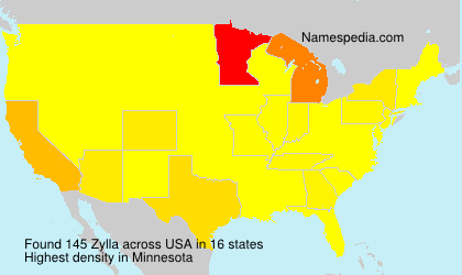 Surname Zylla in USA