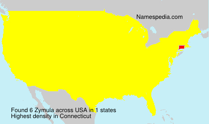 Surname Zymula in USA