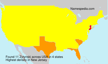 Familiennamen Zytynski - USA