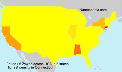 Familiennamen Zywno - USA