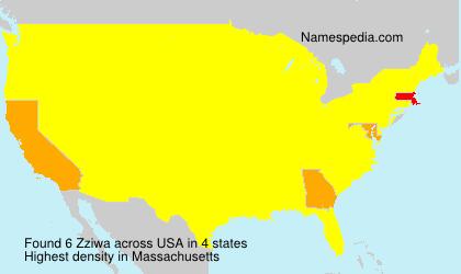 Familiennamen Zziwa - USA