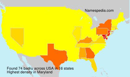 Surname badru in USA