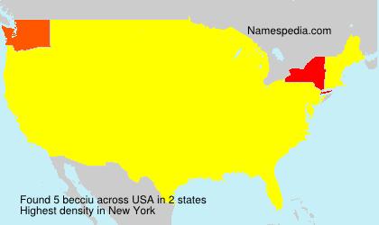 Surname becciu in USA