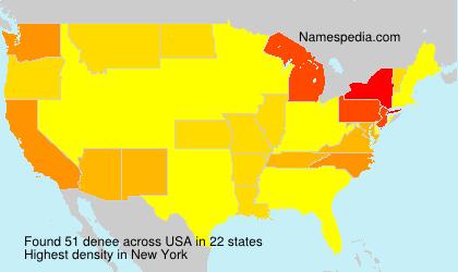 Surname denee in USA