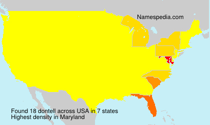Surname dontell in USA