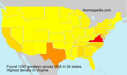 Surname goodwyn in USA