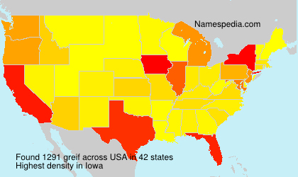 Surname greif in USA