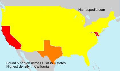 Familiennamen hedieh - USA