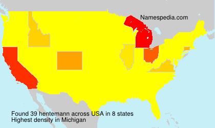 Surname hentemann in USA