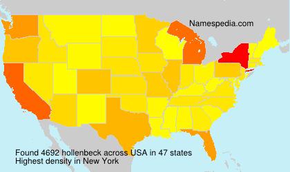Familiennamen hollenbeck - USA