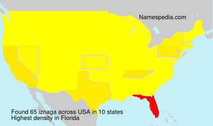 Surname iznaga in USA