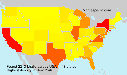 Surname khalid in USA