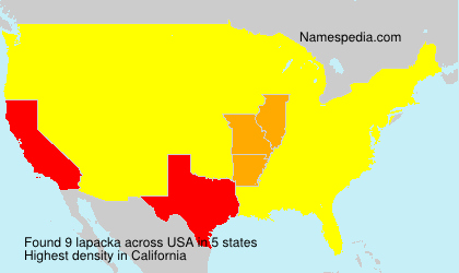 Surname lapacka in USA