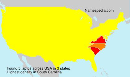Familiennamen laptos - USA