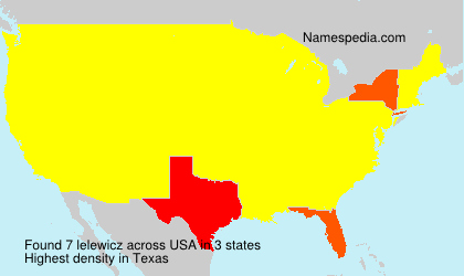 Surname lelewicz in USA