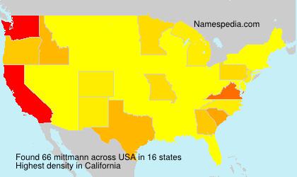 Familiennamen mittmann - USA