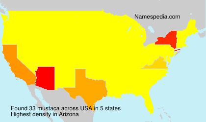 Surname mustaca in USA