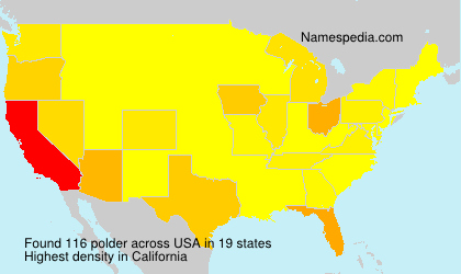 Surname polder in USA