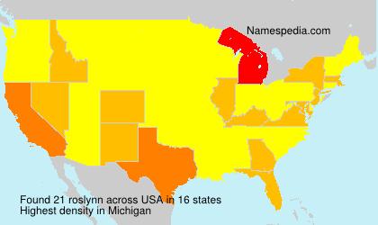 Surname roslynn in USA