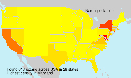 Surname rozario in USA