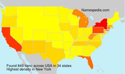 Familiennamen tiano - USA