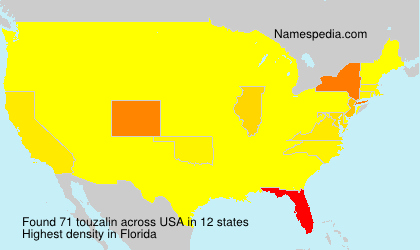 Surname touzalin in USA